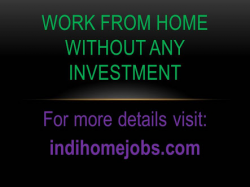 Indi home jobs